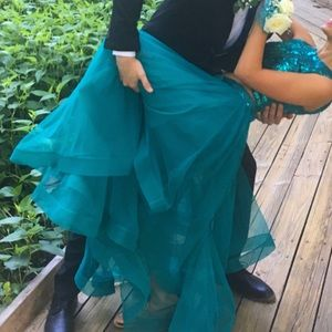 Dresses & Skirts - Teal two piece prom dress 0